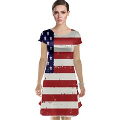 Flag United States United States Of America Stripes Red White Cap Sleeve Nightdress
