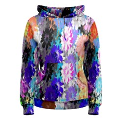 Flowers Colorful Drawing Oil Women s Pullover Hoodie by Simbadda