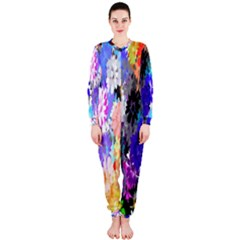 Flowers Colorful Drawing Oil Onepiece Jumpsuit (ladies)
