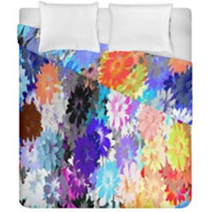 Flowers Colorful Drawing Oil Duvet Cover Double Side (california King Size) by Simbadda