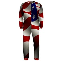 Flag United States Stars Stripes Symbol Onepiece Jumpsuit (men)  by Simbadda