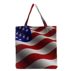 Flag United States Stars Stripes Symbol Grocery Tote Bag by Simbadda