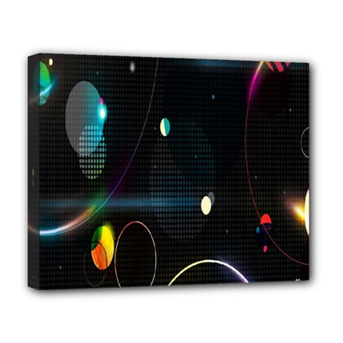 Glare Light Luster Circles Shapes Deluxe Canvas 20  X 16   by Simbadda