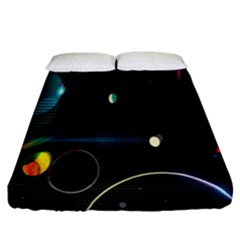 Glare Light Luster Circles Shapes Fitted Sheet (california King Size)