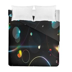 Glare Light Luster Circles Shapes Duvet Cover Double Side (full/ Double Size) by Simbadda