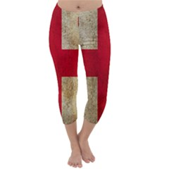 Georgia Flag Mud Texture Pattern Symbol Surface Capri Winter Leggings