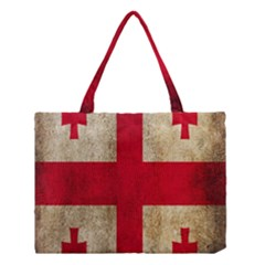 Georgia Flag Mud Texture Pattern Symbol Surface Medium Tote Bag by Simbadda