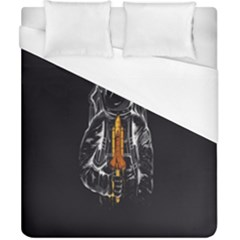 Humor Rocket Ice Cream Funny Astronauts Minimalistic Black Background Duvet Cover (california King Size) by Simbadda