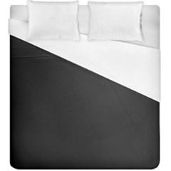 Leather Stitching Thread Perforation Perforated Leather Texture Duvet Cover (king Size) by Simbadda