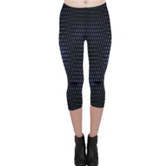 Hexagonal White Dark Mesh Capri Leggings