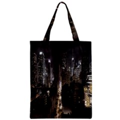New York United States Of America Night Top View Classic Tote Bag by Simbadda