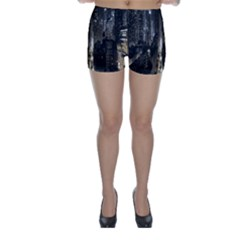 New York United States Of America Night Top View Skinny Shorts