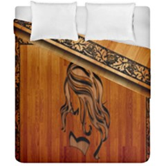 Pattern Shape Wood Background Texture Duvet Cover Double Side (california King Size) by Simbadda