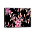 Neon Flowers Black Background Mini Canvas 7  x 5  View1