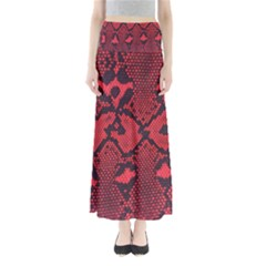 Leather Point Surface Maxi Skirts