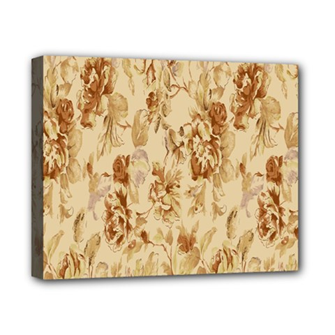 Patterns Flowers Petals Shape Background Canvas 10  X 8  by Simbadda