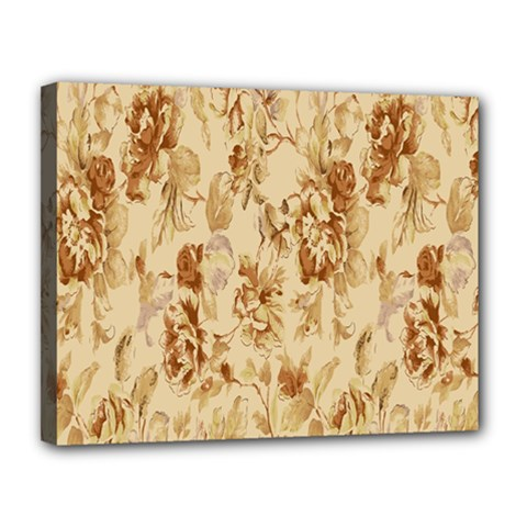 Patterns Flowers Petals Shape Background Canvas 14  X 11