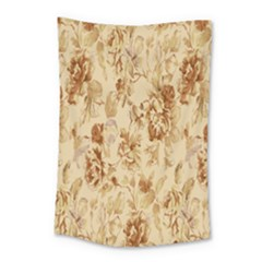 Patterns Flowers Petals Shape Background Small Tapestry by Simbadda
