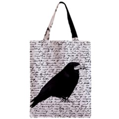 Black Raven  Zipper Classic Tote Bag by Valentinaart