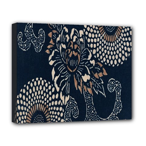 Patterns Dark Shape Surface Deluxe Canvas 20  X 16   by Simbadda
