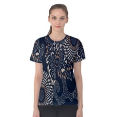 Patterns Dark Shape Surface Women s Cotton Tee by Simbadda