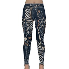 Patterns Dark Shape Surface Classic Yoga Leggings by Simbadda