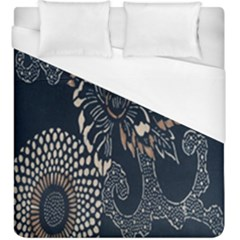 Patterns Dark Shape Surface Duvet Cover (king Size) by Simbadda