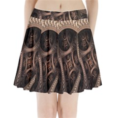 Patterns Dive Background Pleated Mini Skirt