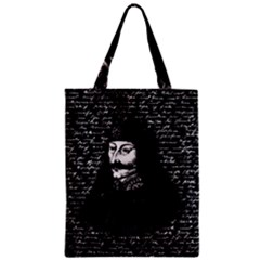 Count Vlad Dracula Zipper Classic Tote Bag by Valentinaart