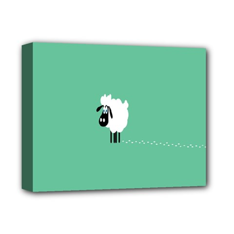 Sheep Trails Curly Minimalism Deluxe Canvas 14  X 11