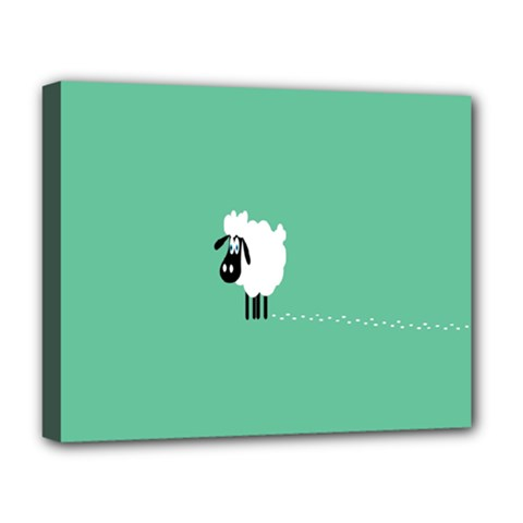 Sheep Trails Curly Minimalism Deluxe Canvas 20  X 16   by Simbadda
