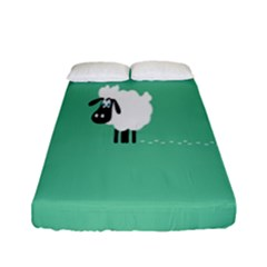 Sheep Trails Curly Minimalism Fitted Sheet (full/ Double Size) by Simbadda