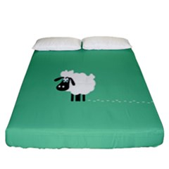 Sheep Trails Curly Minimalism Fitted Sheet (king Size) by Simbadda