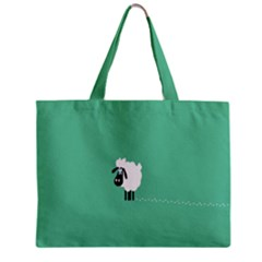 Sheep Trails Curly Minimalism Zipper Mini Tote Bag by Simbadda
