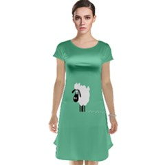 Sheep Trails Curly Minimalism Cap Sleeve Nightdress by Simbadda