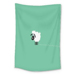 Sheep Trails Curly Minimalism Large Tapestry by Simbadda
