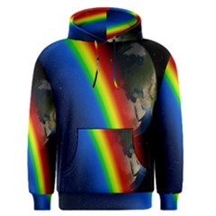 Rainbow Earth Outer Space Fantasy Carmen Image Men s Pullover Hoodie by Simbadda