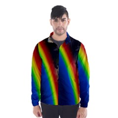 Rainbow Earth Outer Space Fantasy Carmen Image Wind Breaker (men) by Simbadda