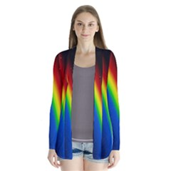 Rainbow Earth Outer Space Fantasy Carmen Image Cardigans