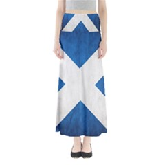 Scotland Flag Surface Texture Color Symbolism Maxi Skirts