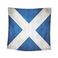 Scotland Flag Surface Texture Color Symbolism Square Tapestry (small)