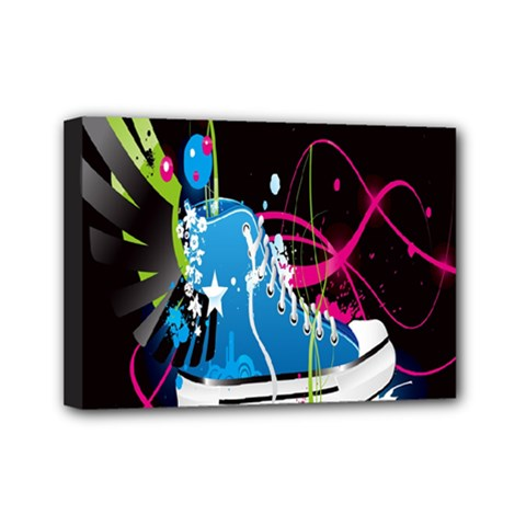 Sneakers Shoes Patterns Bright Mini Canvas 7  X 5  by Simbadda