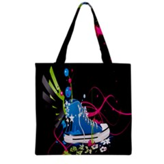 Sneakers Shoes Patterns Bright Grocery Tote Bag by Simbadda