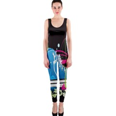 Sneakers Shoes Patterns Bright Onepiece Catsuit by Simbadda