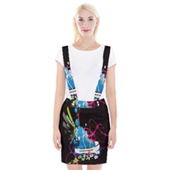 Sneakers Shoes Patterns Bright Suspender Skirt