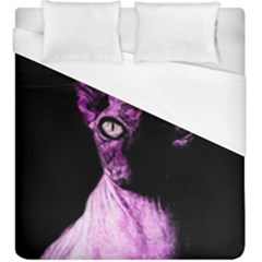 Pink Sphynx Cat Duvet Cover (king Size) by Valentinaart