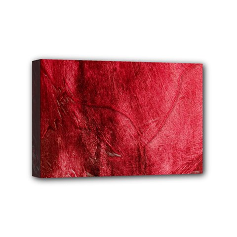 Red Background Texture Mini Canvas 6  X 4  by Simbadda