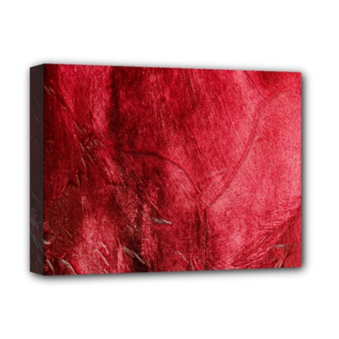 Red Background Texture Deluxe Canvas 16  X 12