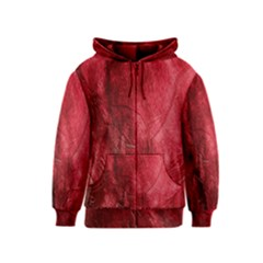 Red Background Texture Kids  Zipper Hoodie by Simbadda
