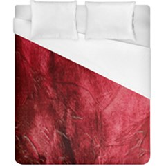 Red Background Texture Duvet Cover (california King Size) by Simbadda